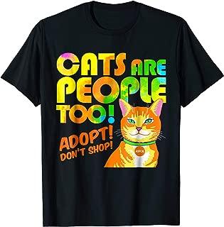 ASPCA Cats Are People Too T-Shirt Dark