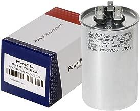 PowerWell 50+7.5 uf MFD 370 or 440 Volt Dual Run Round Capacitor PW-CAP-50/7.5/440R Condenser Straight Cool/Heat Pump Air Conditioner