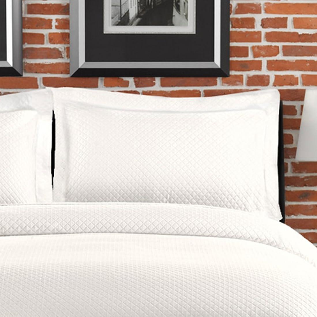 癒す考慮ロイヤリティLamont LBCV09050 Diamante Standard Cotton Sham in White