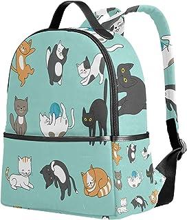 ユサキ(USAKI) リュック リュックサック 通学 猫 ネコ 猫柄 かわいい おもしろい