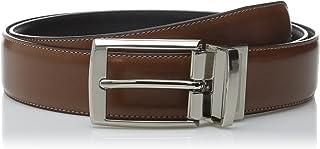 حزام Amigo ذو وجهين باللون الأسمر الضارب إلى الحمرة للرجال من Perry Ellis