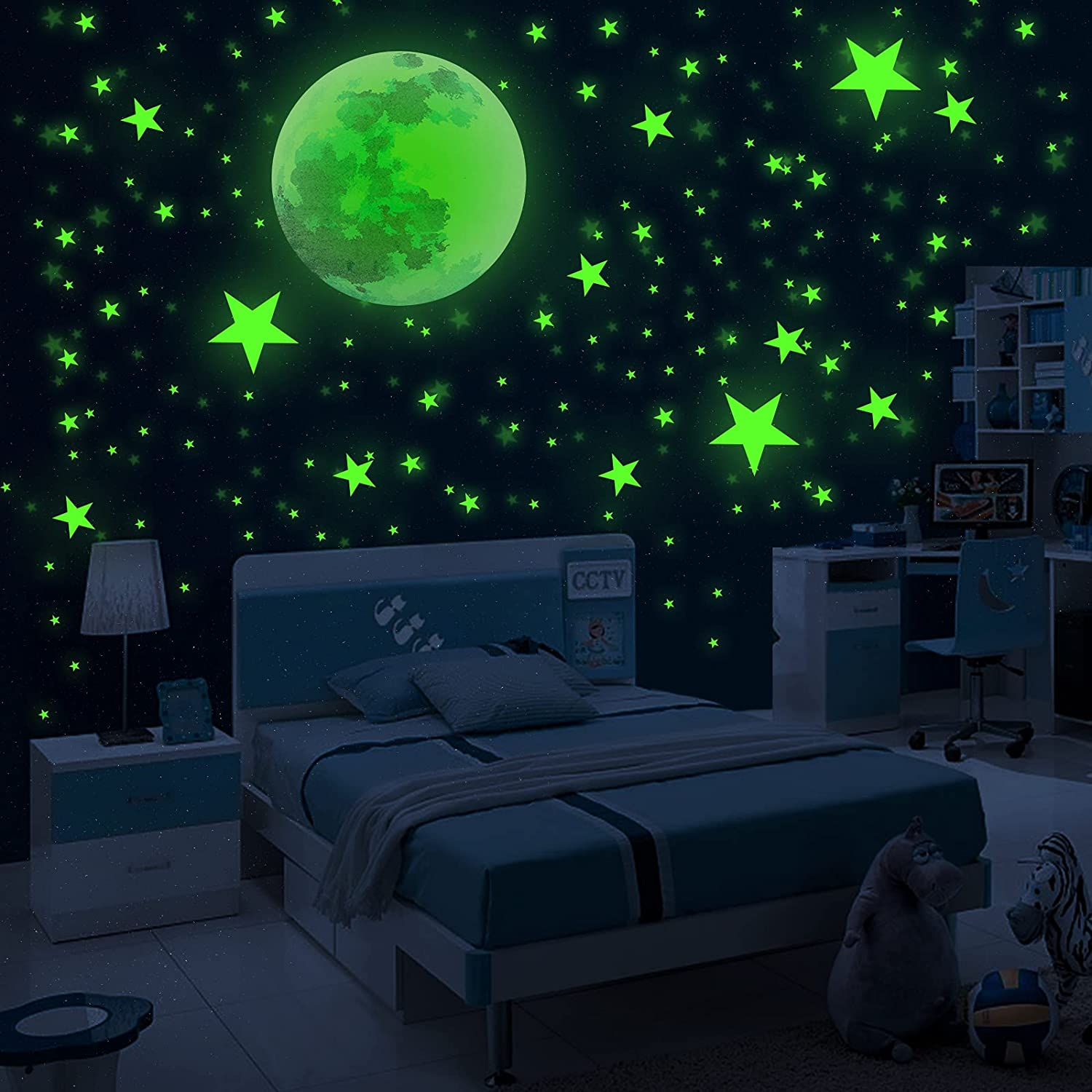 912 Pcs Glow in The Dark Ceiling Adhesive 912PCS for Stars Wall safety SALENEW very popular!