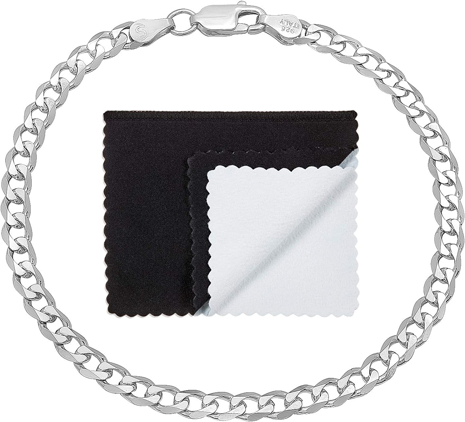 1mm-16mm Solid OFFicial .925 Sterling Silver Flat Link Cuban N online shop Curb Chain