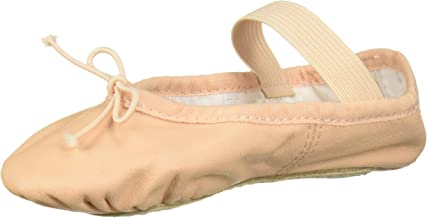 Bloch Girls Dance Dansoft Full Sole Leather Ballet Slipper/Shoe, Pink, 8 Medium Toddler