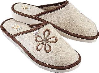 Zapatillas De Casa Mujer Fieltro Pantuflas Casa Mujer BEK