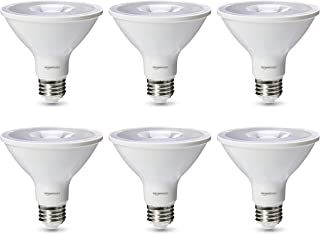 AmazonBasics Commercial Grade LED Light Bulb | 75-Watt Equivalent, PAR30S, Warm White, Dimmable, 6-Pack