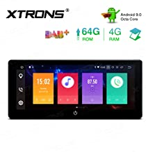 XTRONS 10.25 Inch Android 9.0 Double Din Car Stereo Radio Player Octa Core 4G RAM 64G ROM GPS Navigator Multi-Touch Screen Adjustable Viewing Angles Head Unit Supports WiFi Backup Camera OBD2 DVR TPMS