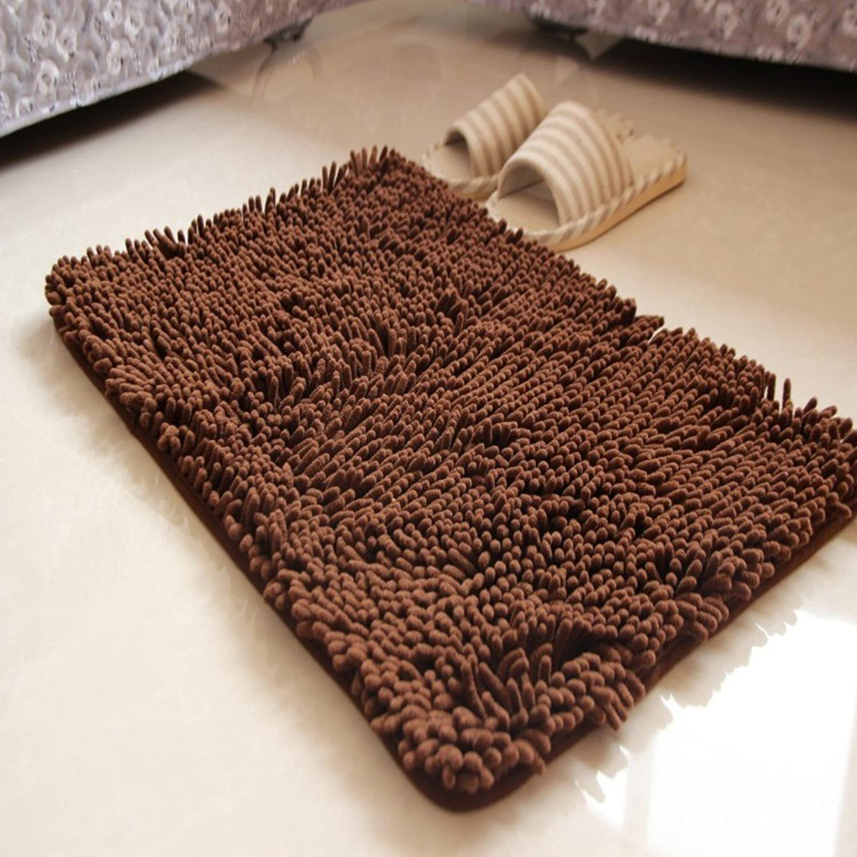 Chenille mat Indoor mats Toilet Water-Absorbing Anti-Slip mat Bedroom mats-A 120x160cm(47x63inch)
