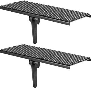 WALI TV Top Shelf 12 inch Flat Panel Mount for Streaming Devices, Media Boxes, Speakers and Home Decor (TSH001-2), 2 Packs...