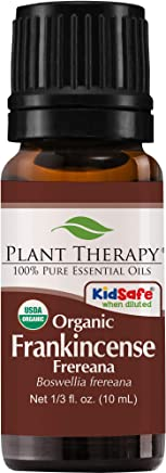 Plant Therapy Frankincense Frereana Organic Essential Oil   100% Pure, USDA Certified Organic, Undiluted   10 mL