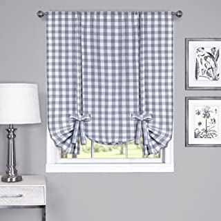 Best grey plaid kitchen curtains Reviews
