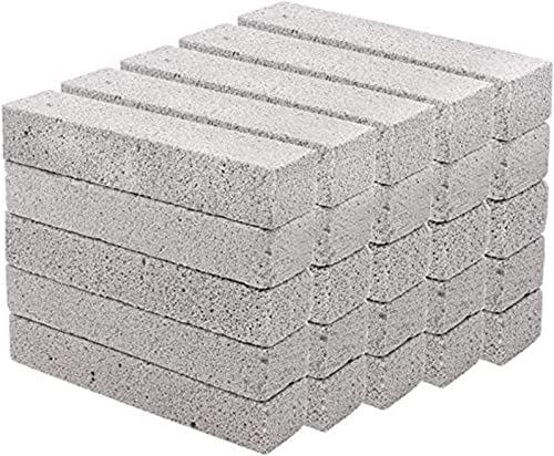 lowest Hatoku 25 Pieces Pumice Stones for Cleaning Grey Pumice Scouring Pad Pumice Stick Cleaner for Removing Toilet Bowl Ring, Bath, Kitchen, Pool, outlet sale Household Cleaning (5.9 x 1.4 x new arrival 0.9 Inches) outlet sale