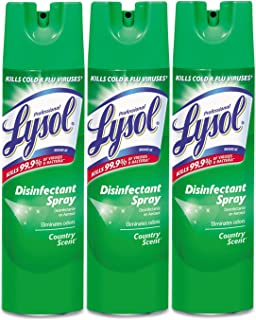 Lysol Disinfectant Spray, Country Scent, 19 Ounce, 3 Count
