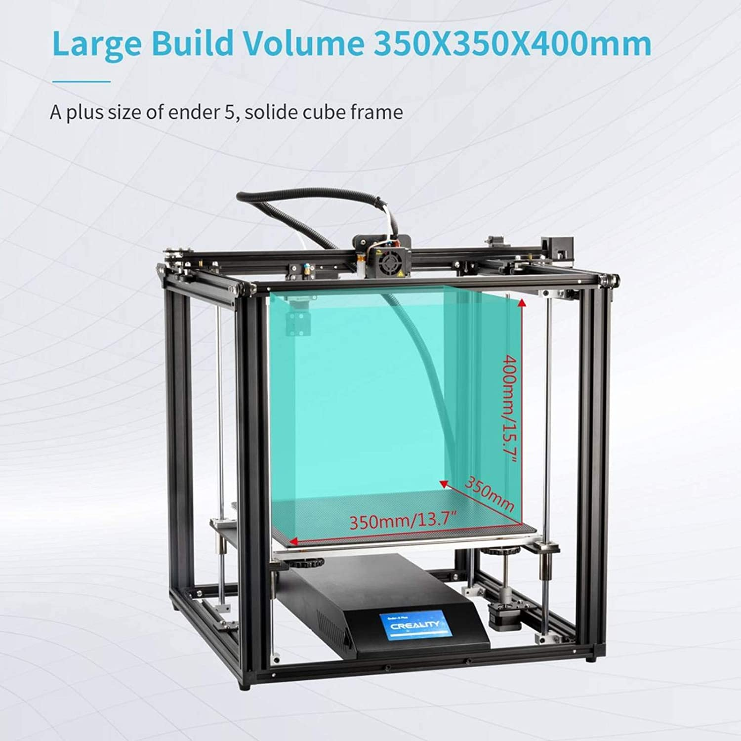 Creality Ender 5 Plus 3D Printer with BL Touch Glass Bed 4.3 Inch Touch Screen Large Print Size 350x350x400mm