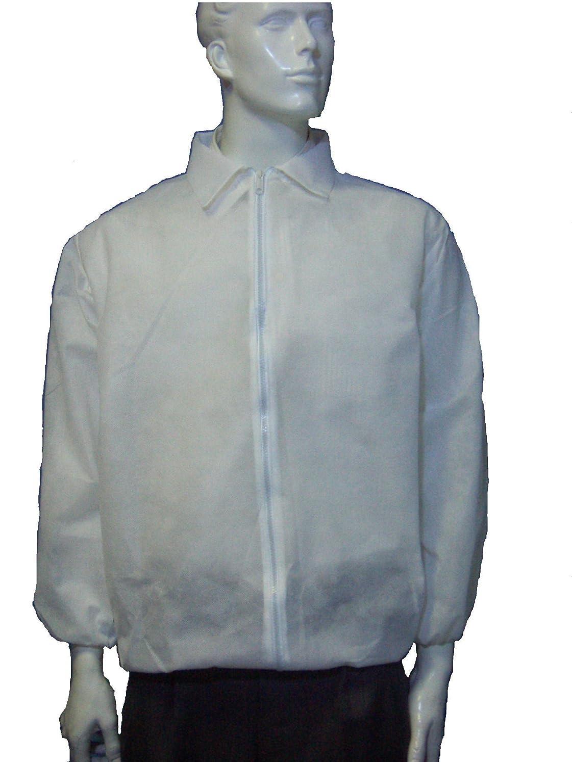 プレミア約表面的な不織布 使い捨てウェア 上衣 2-06WKT(5枚) (L)