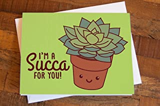 Cute Succulent Love, Valentines, or Anniversary Card