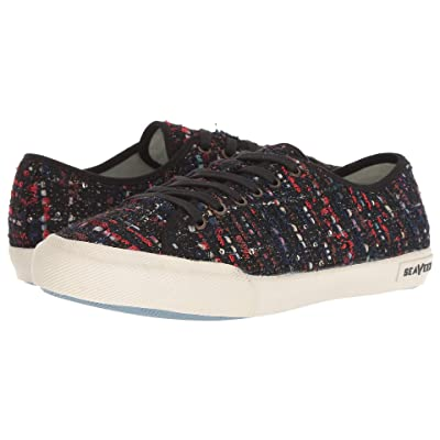 SeaVees Monterey Sneaker (Black Tweed) Women