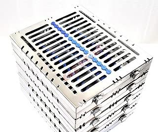 5 German Dental Autoclave Sterilization Cassette Tray for 15 Instruments 8.25X7.25X1.25