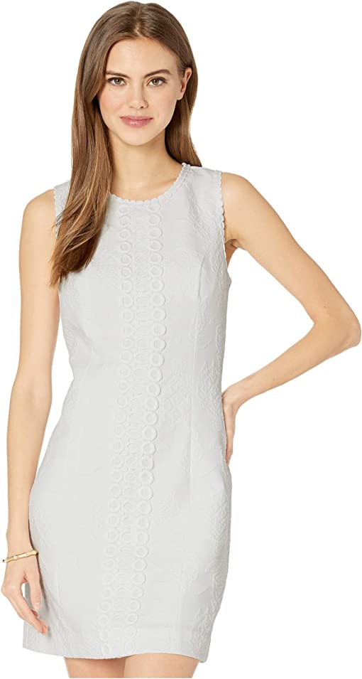 Resort White Turtle Pucker Jacquard