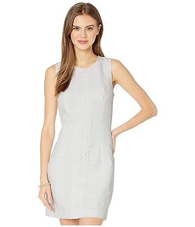 Lilly Pulitzer Mila Stretch Shift Dress (Resort White Turtle Pucker Jacquard) Women