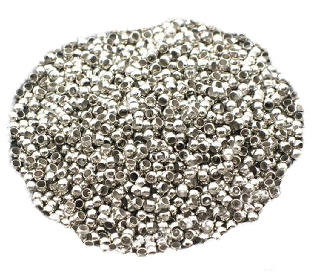 NYKKOLA Crimp Spacer Stopper Beads 2mm Fit Jewelry Making(pack of 1000)