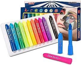 EN-71 Certified 12 Cols Face Crayones, Kits de Pintura para la Cara, Pintura Corporal, Pintura Facial para niños, Pintura Lavable para la Cara, Maquillaje para niños, Pintura Corporal no tóxica