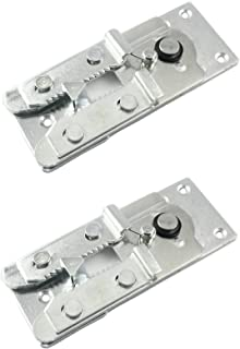 Two (2) Metal Couch / Sofa Snap Style Sectional Connector with Screws