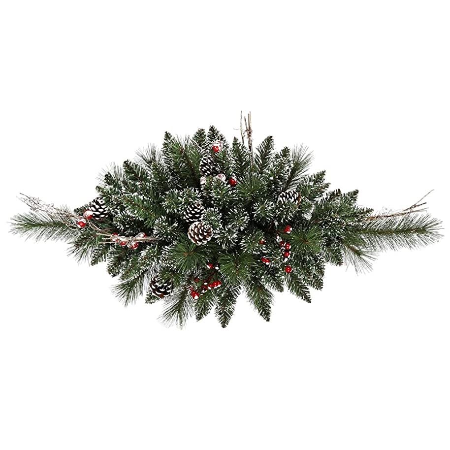Vickerman 421000 - 2.5' Snow Tip Pine/Berry Swag Christmas Garland (B166306) zlegmibg6291