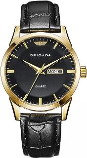 Swiss Brand Classic Gold Men's Dress Watch for Men with Date Calendar, Business Casual Quartz Men's Watch Waterproof
