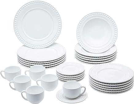 Aparelho De Jantar 30 Peças Atenas Branco