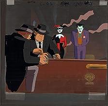Batman Animated BTAS Harley Joker Production Cel and Original Background Warner Brothers - Near Key Master Setup