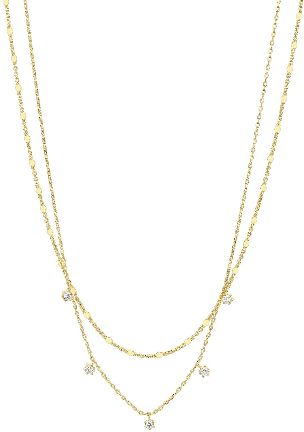 PAVOI 14K Gold Plated Star, Coin, Butterfly, Lightning Cluster Pendant Necklace for Women