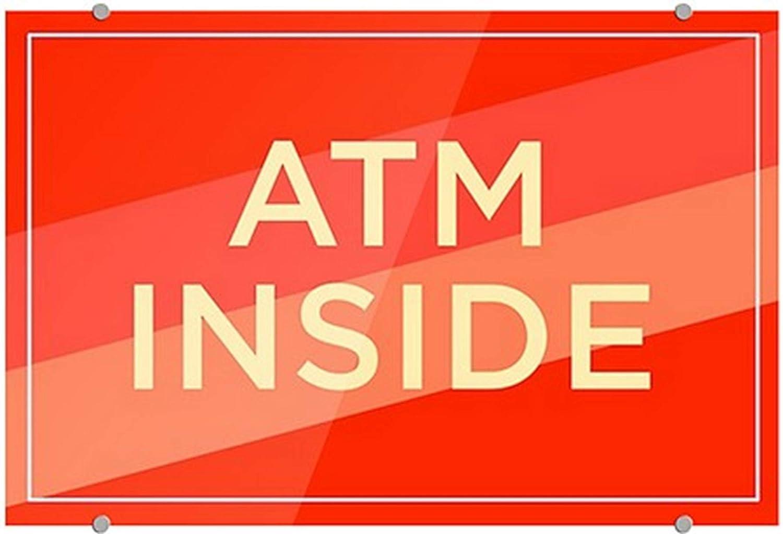 Modern Diagonal Premium Acrylic Sign ATM Inside 27x18 CGSignLab