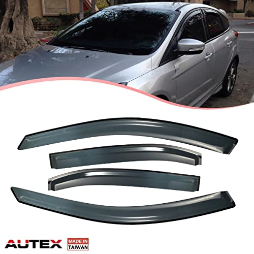 AUTEX Tape On Window Visor Fits for 2006 2007 2008 2009 2010 2011 2012 Ford Fusion