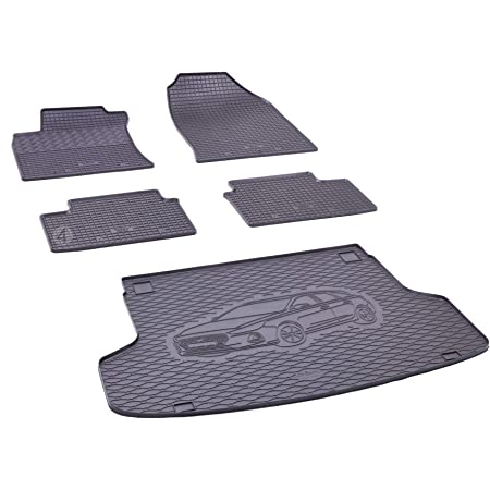 Kofferraumwanne Und Gummifußmatten Passgenau Geeignet Für Hyundai I30 Sw Kombi Ab 2019 Farbe Schwarz Gurtschoner Auto