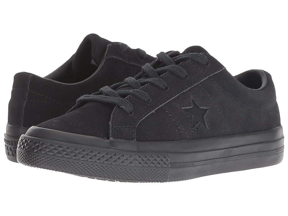 Converse Kids One Star Ox (Little Kid) (Black/Black/Black) Kids Shoes