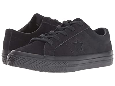Converse Kids One Star Ox (Little Kid) (Black/Black/Black) Kids Shoes