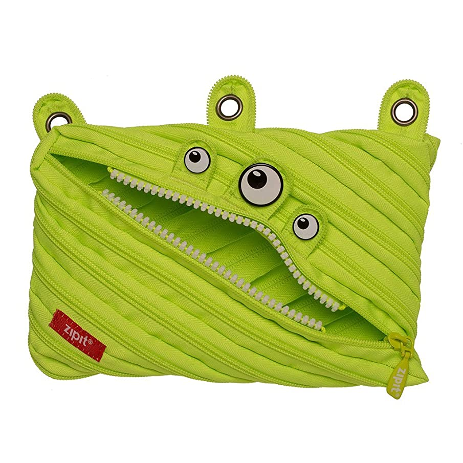 ZIPIT Monster 3-Ring Pencil Case, Lime