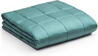 YnM Bamboo Weighted Blanket for People, Bamboo, Sea Grass Inner Weighted Layer, Bamboo 41''x60'' 10lbs