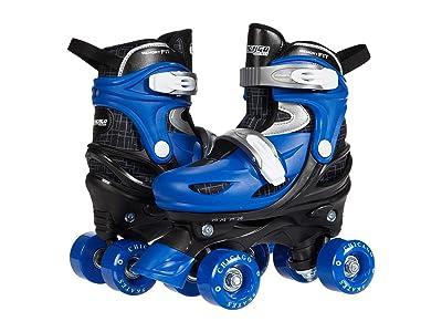 Chicago Skates Quad Combo Skate, Knee, Wrist Helmet (Toddler/Little Kid/Big Kid) (Black/Blue) Men