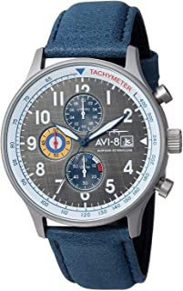 Men's AV-4011 Hawker Hurricane Analog Display Japanese Quartz Watch with Leather Band