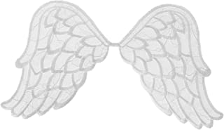 Wrights Especially Baby Iron-On Applique, White Angel Wings