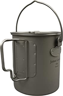 Jolmo Lander Titanium Pot with Bail Handle Outdoor Ultralight Titanium Cookware 750ml