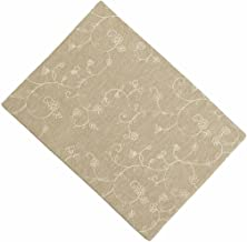 Home collection by Raghu Candlewicking Placemat, 14 by 18-Inch, Taupe Set of 6