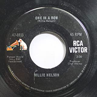 Willie Nelson 45 RPM One in a Row / San Antonio Rose