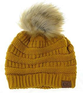 : bonnet jaune moutarde
