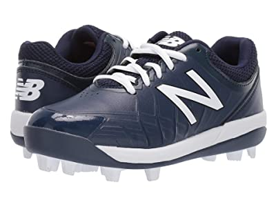 New Balance Kids 4040v5 Baseball (Little Kid/Big Kid) (Navy/White) Kids Shoes