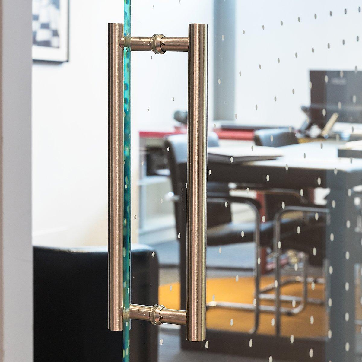 Manija de Puerta Tirador de 350 mm de Acero Inoxidable Satinado ...