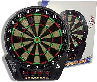DYJD Scores de buteur Touch Touch électronique LCD, Dartboard électronique avec 6 fléchettes, 27 Jeux et 243 Variantes