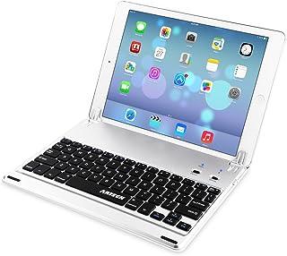 iPad 9.7-inch (iPad 6, 2018 / iPad 5, 2017) Keyboard, Arteck Ultra-Thin Bluetooth Keyboard Folio Case with Stand Groove for Apple iPad 9.7 iPad 6, iPad 5 and iPad Air 1 with 130 Degree Swivel Rotating